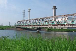 木下付近の成田線橋梁