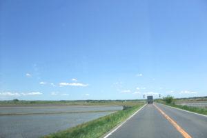 印旛沼周辺の風景と地平線