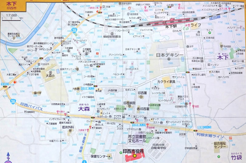 1990年代の木下の地図