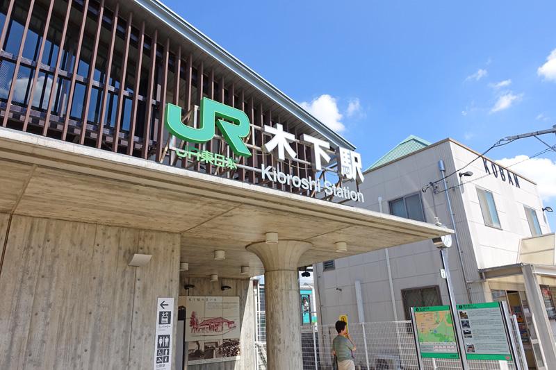 現在のJR木下駅