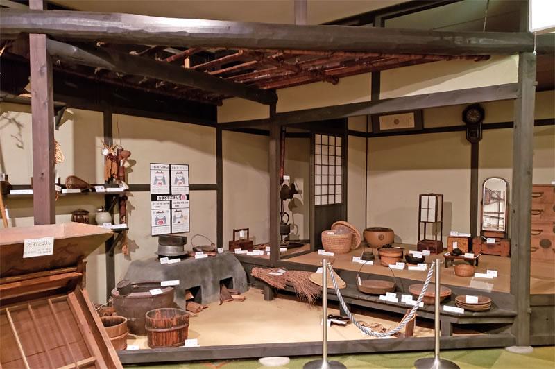 印旛歴史民俗資料館の展示室