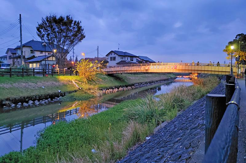 六軒の弁天川と水神橋