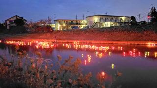 弁天川のランタンイベント