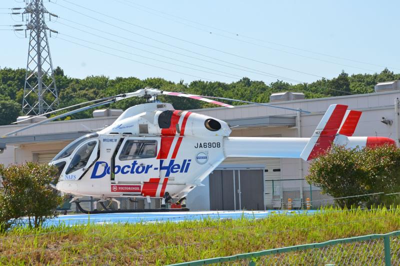 日本医科大学千葉北総病院のドクターヘリ