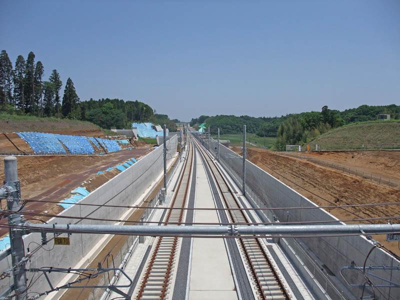2010年の印旛日本医大の北千葉道路建設予定地