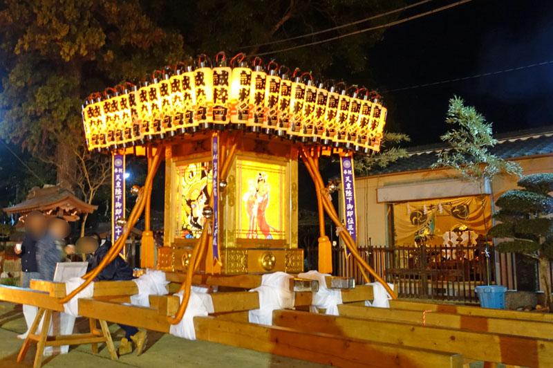 六軒厳島神社の年越し神輿