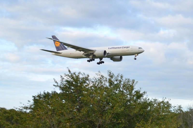さくらの山公園から飛行機を見る