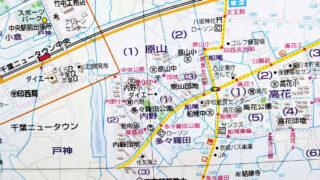 1998年原山・内野地区の地図