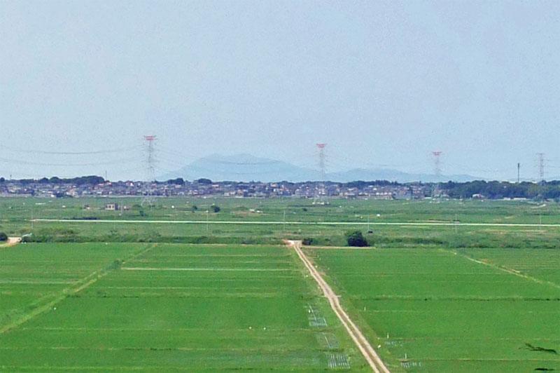 大六天から見た筑波山