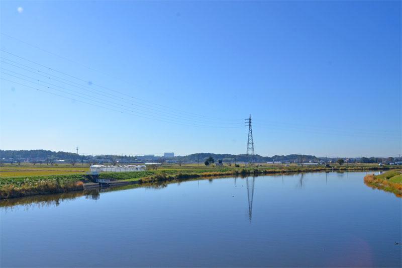 千葉県印西市の手賀川